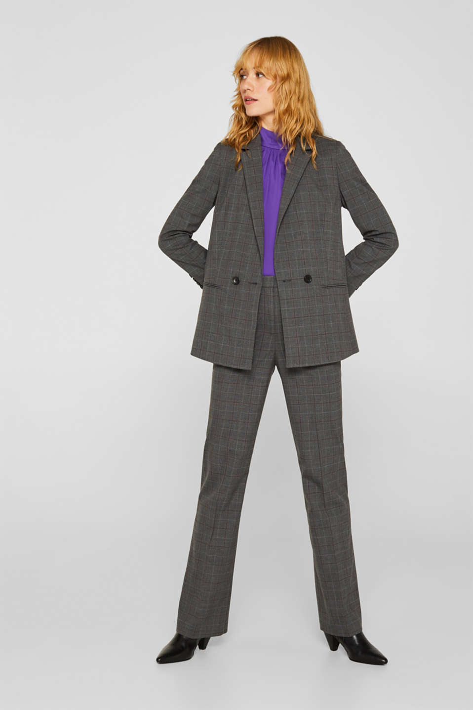 Blazers woven, DARK GREY, detail image number 1