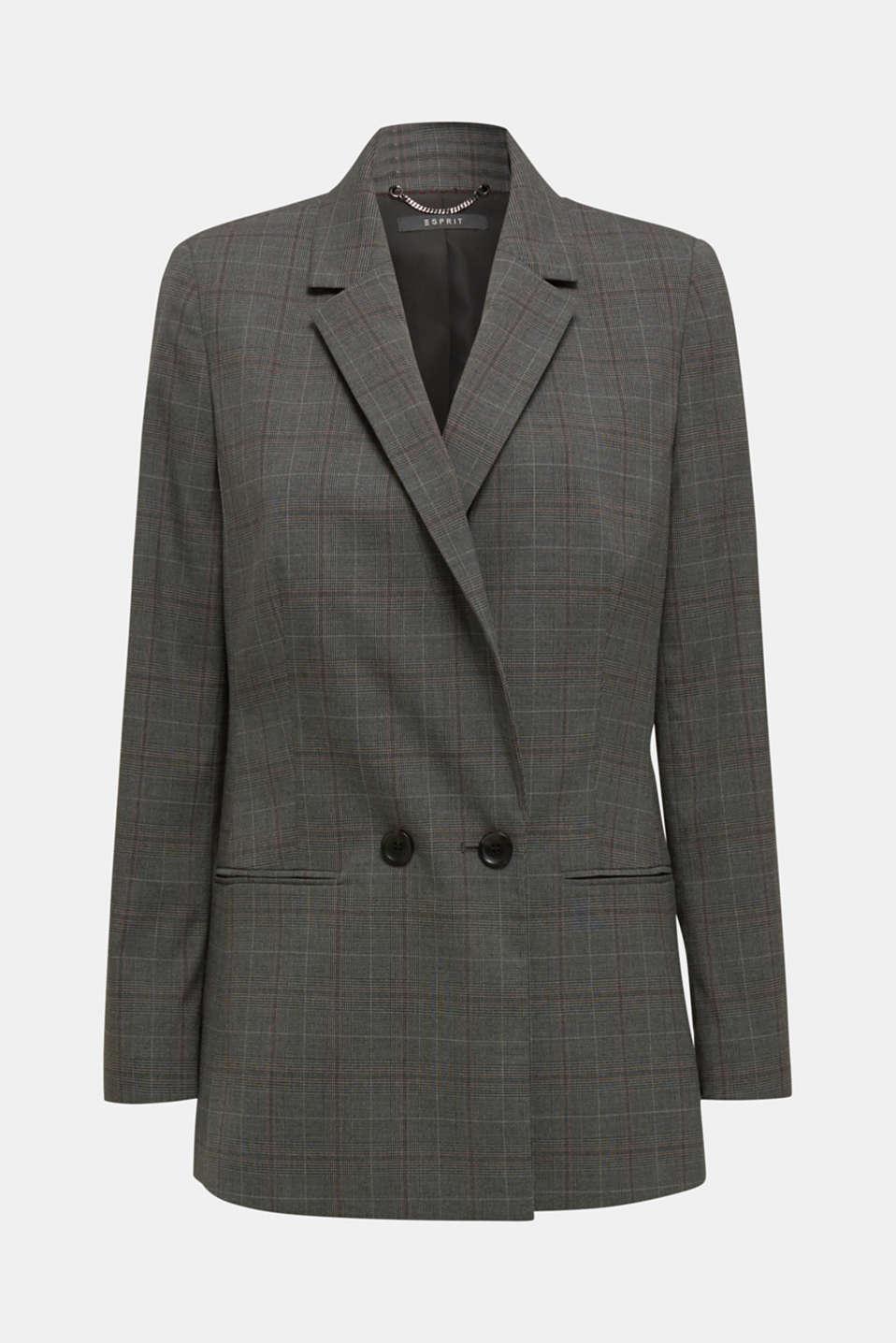 Blazers woven, DARK GREY, detail image number 6