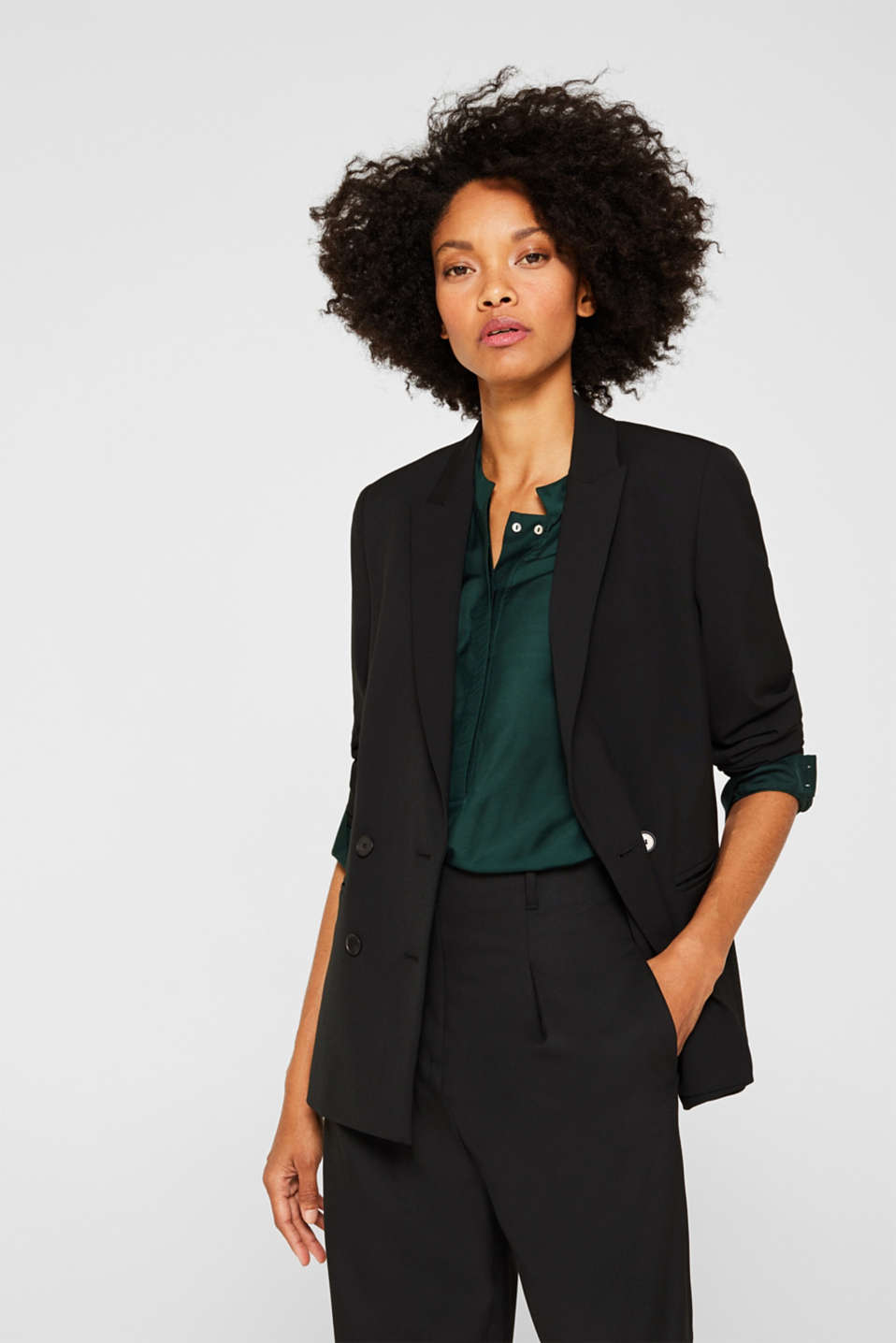 Esprit - STRETCH FABRIC Mix + Match Stretch-Blazer