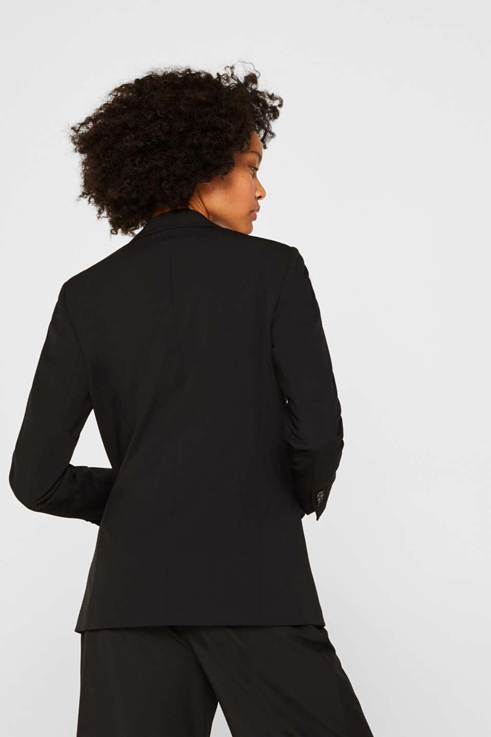 STRETCH FABRIC Mix + Match stretch blazer, BLACK, detail image number 3