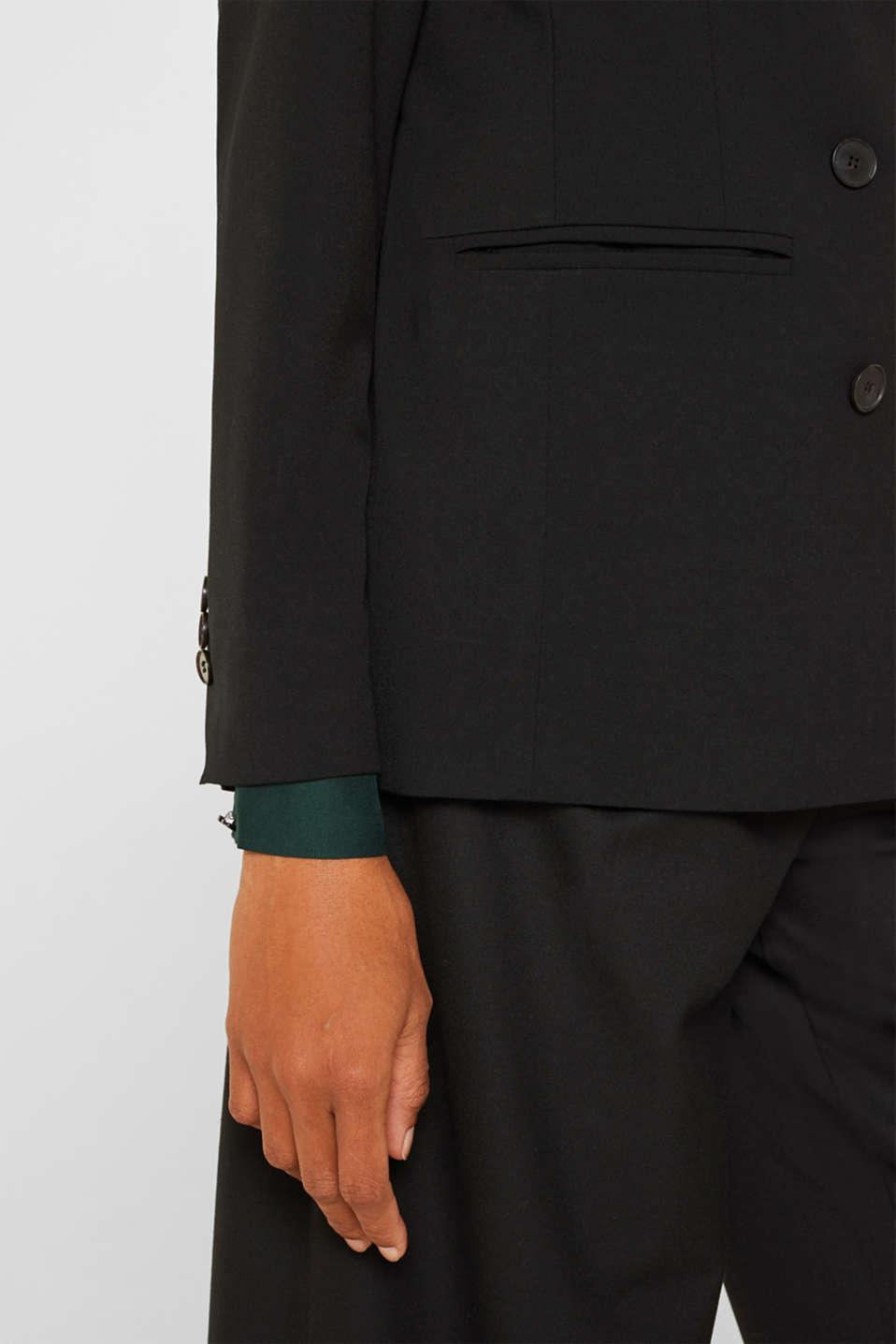 STRETCH FABRIC Mix + Match stretch blazer, BLACK, detail image number 2