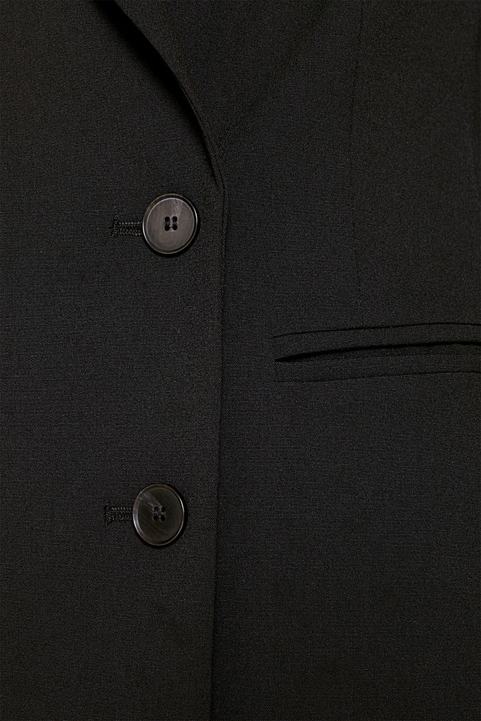 STRETCH FABRIC Mix + Match stretch blazer, BLACK, detail image number 4