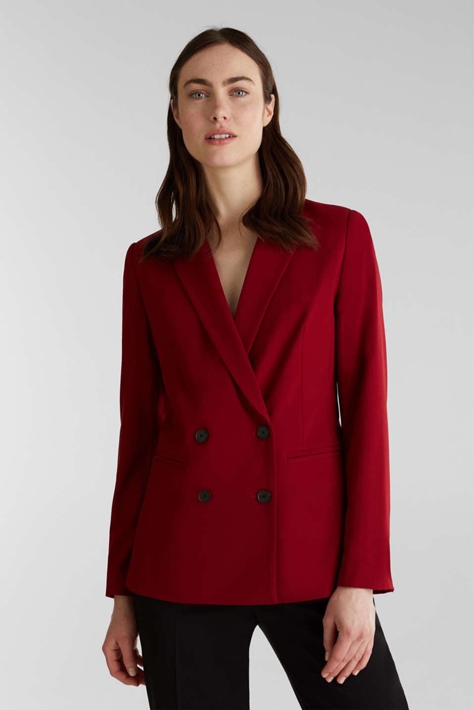 Esprit - STRETCH FABRIC Mix + Match stretch blazer