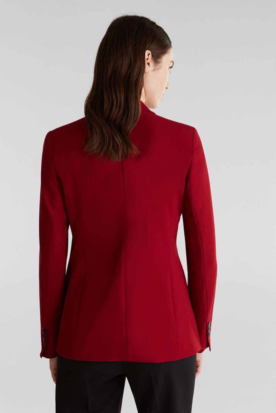 STRETCH FABRIC Mix + Match stretch blazer, DARK RED, detail image number 3