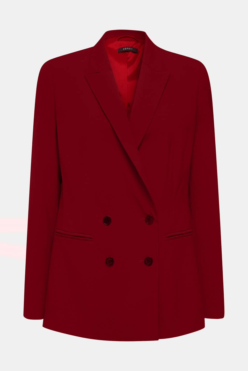 STRETCH FABRIC Mix + Match stretch blazer, DARK RED, detail image number 7