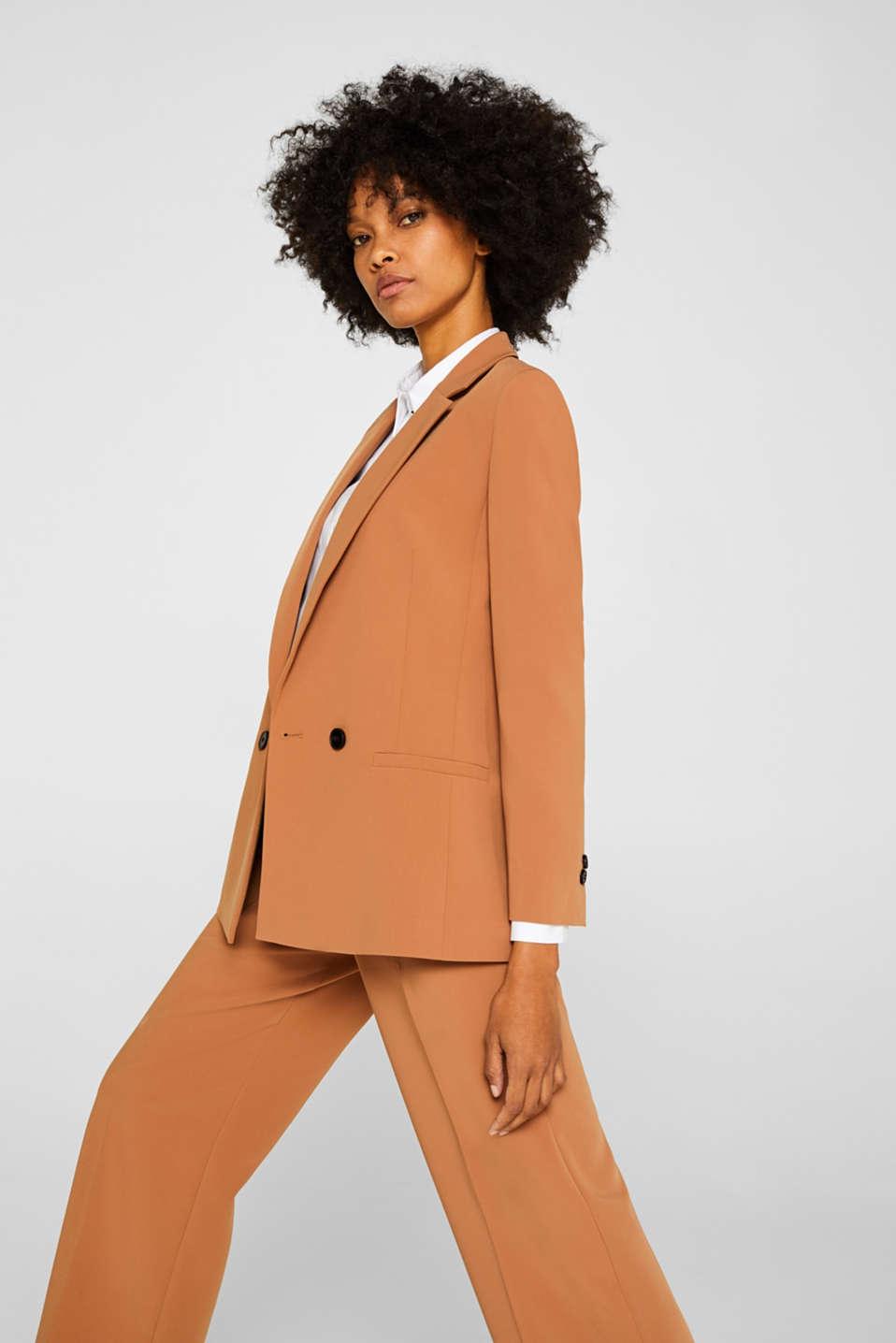 TECHNO TWILL mix + match stretch blazer, TOFFEE, detail image number 5