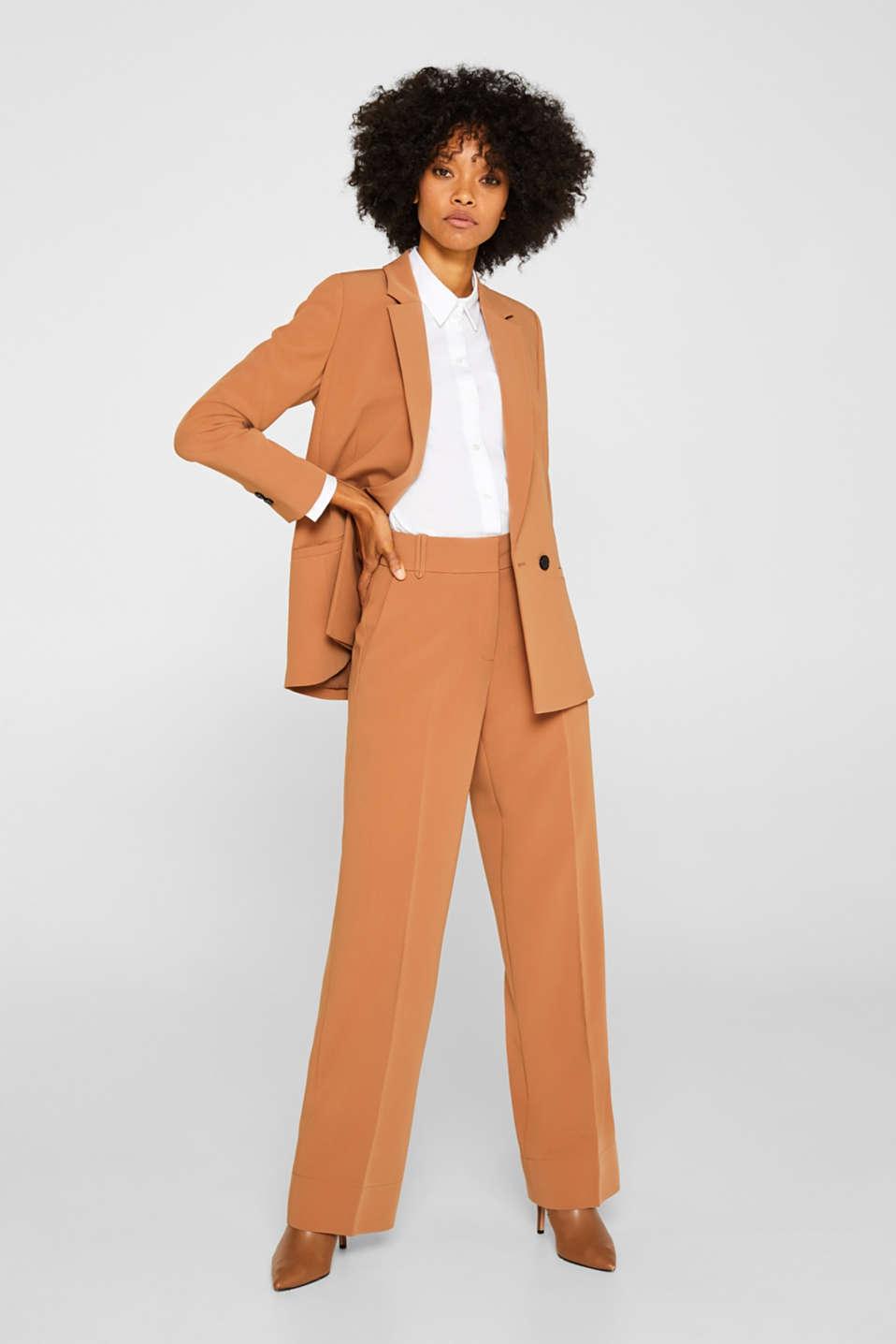 TECHNO TWILL mix + match stretch blazer, TOFFEE, detail image number 1