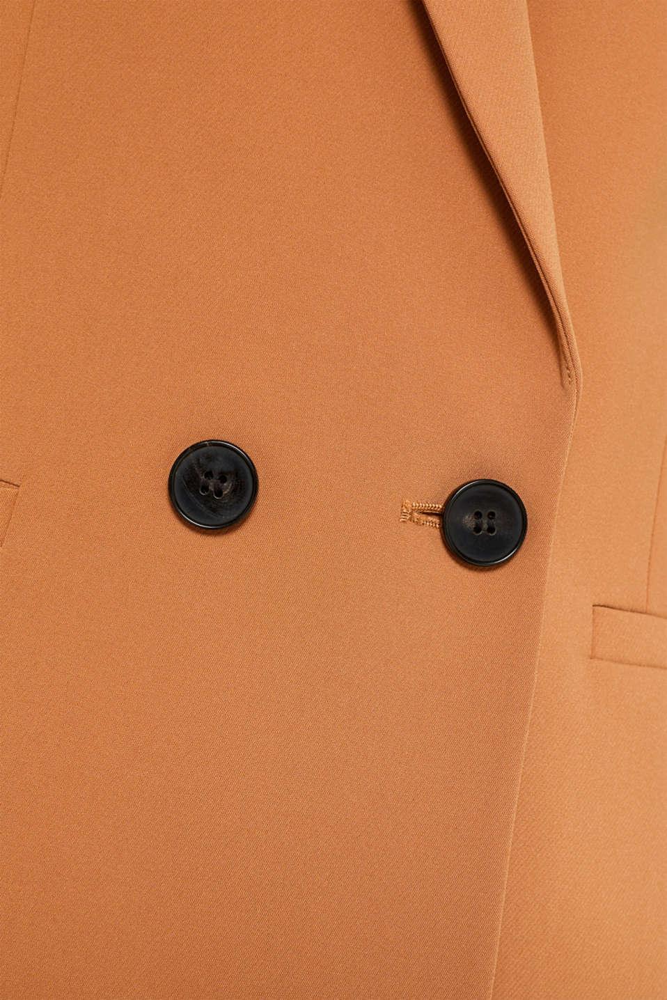 TECHNO TWILL mix + match stretch blazer, TOFFEE, detail image number 4