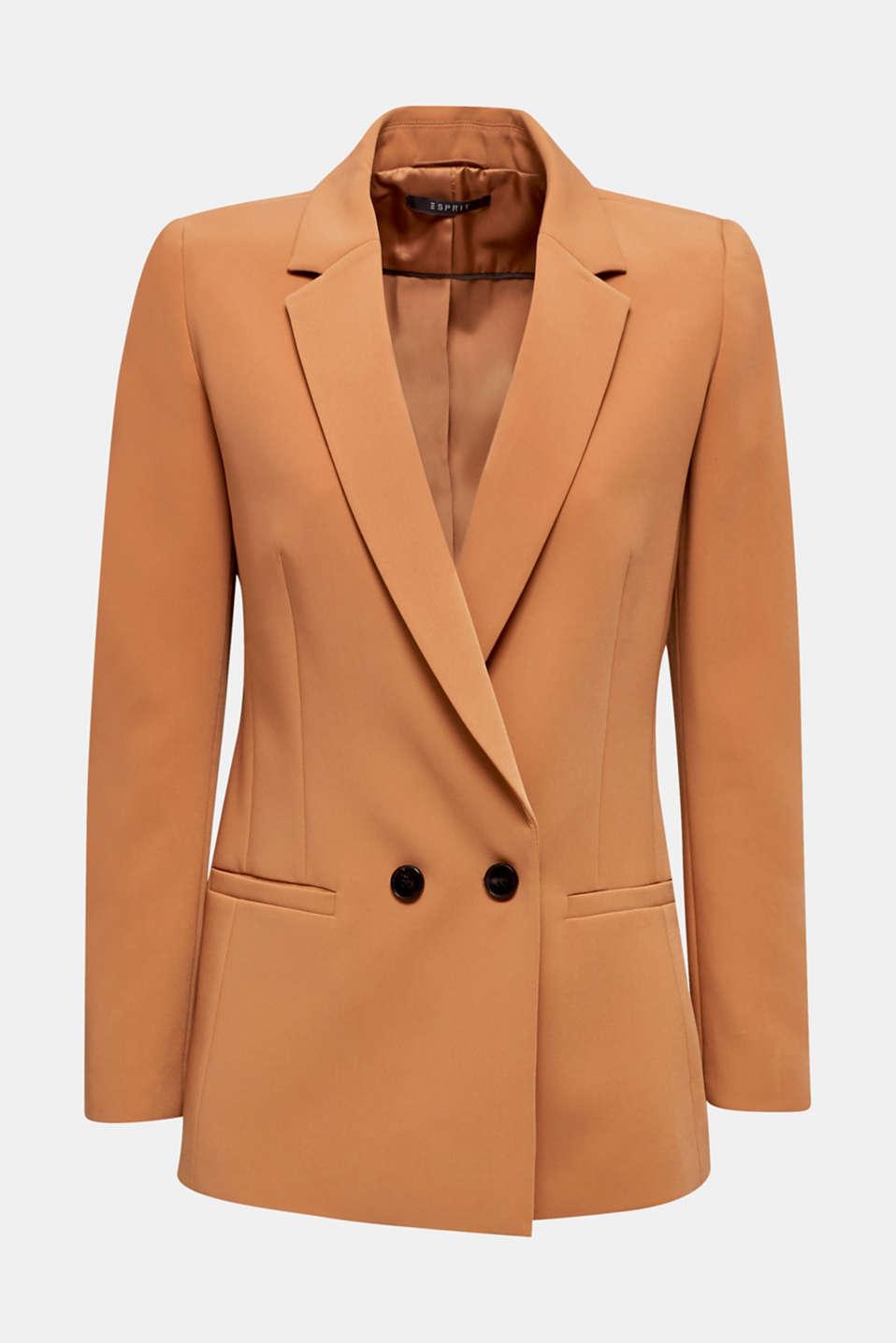 TECHNO TWILL mix + match stretch blazer, TOFFEE, detail image number 7