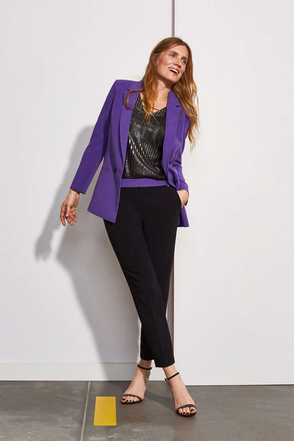 Esprit - TECHNO TWILL Mix + Match stretchblazer