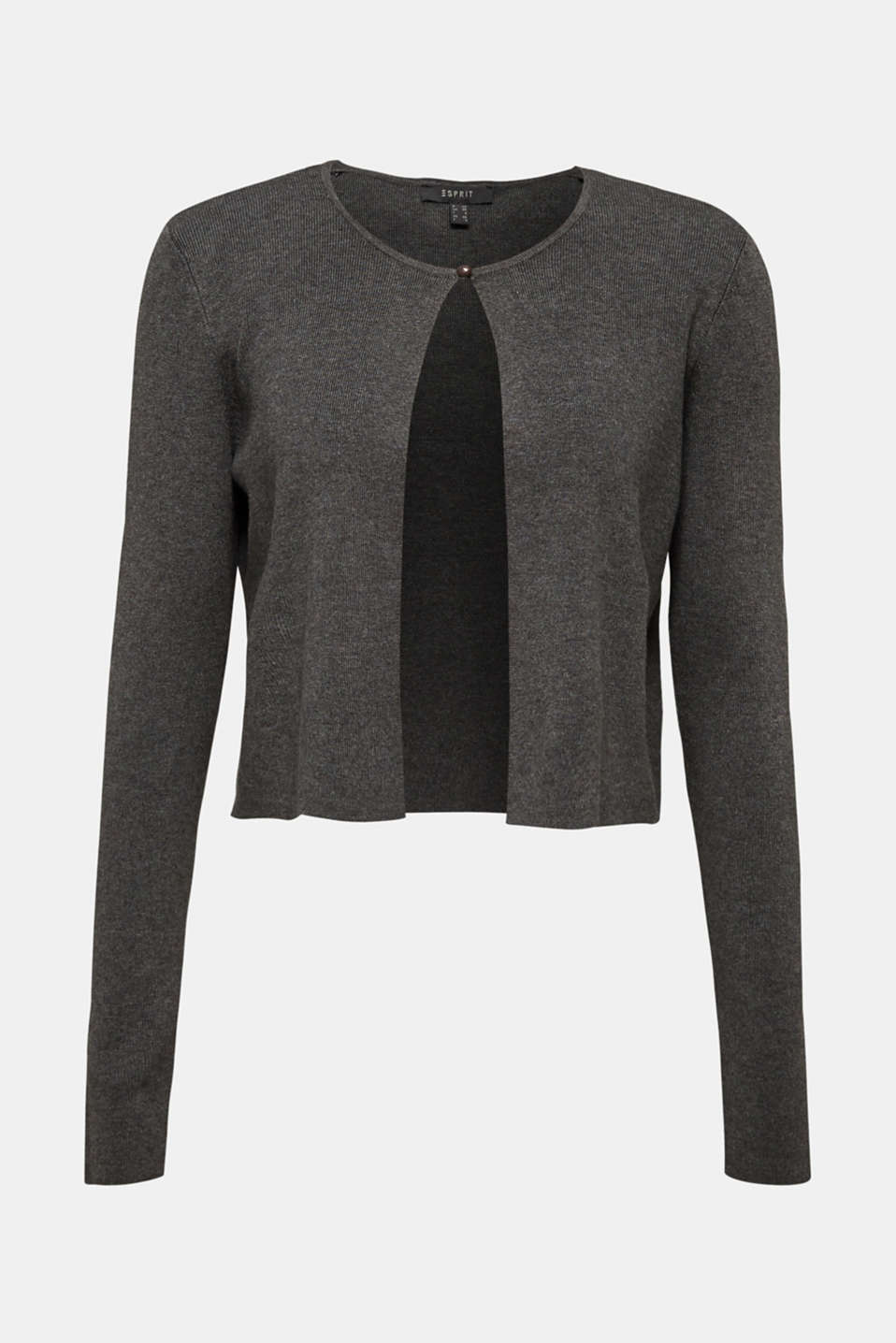 Fine knit bolero with LENZING™ ECOVERO, GUNMETAL 5, detail image number 6