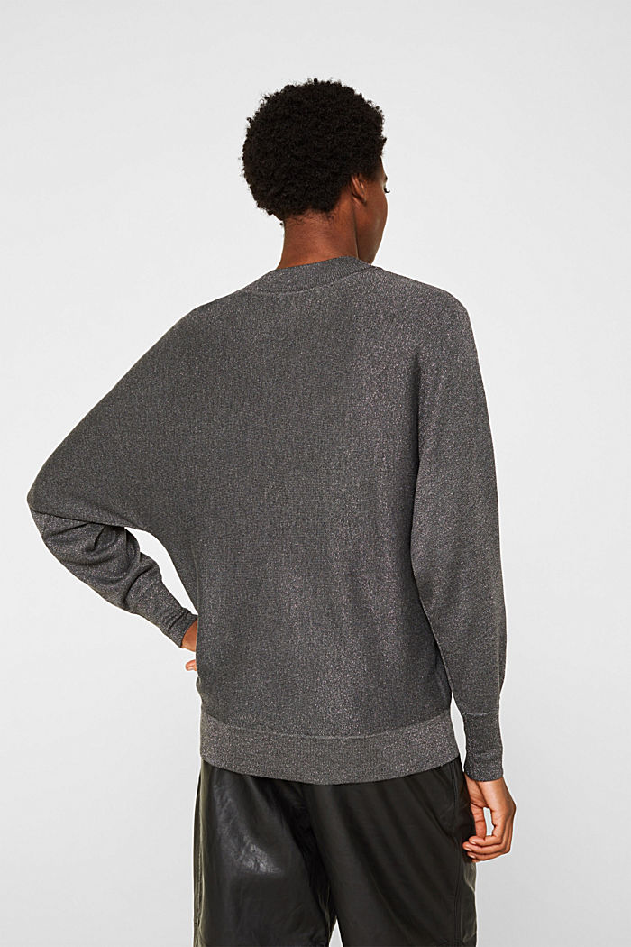 Sparkly jumper with LENZING™ ECOVERO, GUNMETAL, detail image number 3