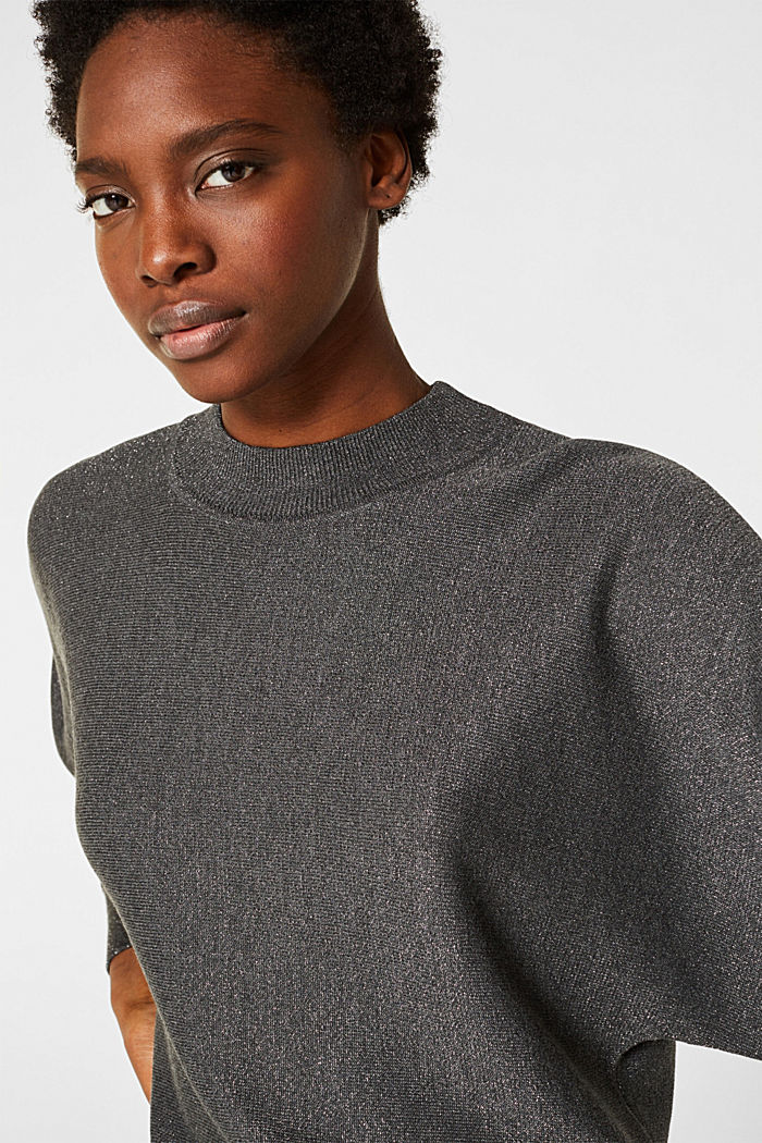 Sparkly jumper with LENZING™ ECOVERO, GUNMETAL, detail image number 2