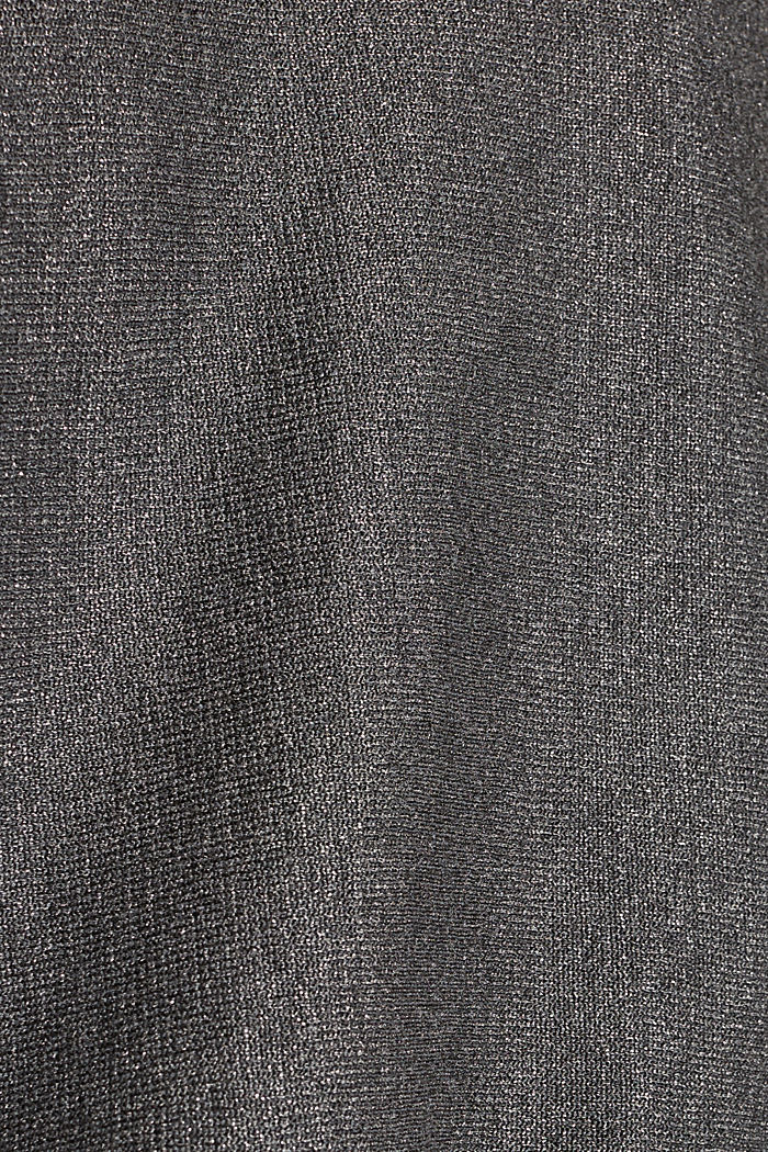Sparkly jumper with LENZING™ ECOVERO, GUNMETAL, detail image number 4