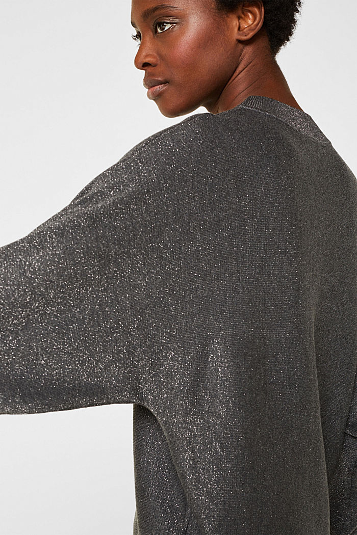 Sparkly jumper with LENZING™ ECOVERO, GUNMETAL, detail image number 5