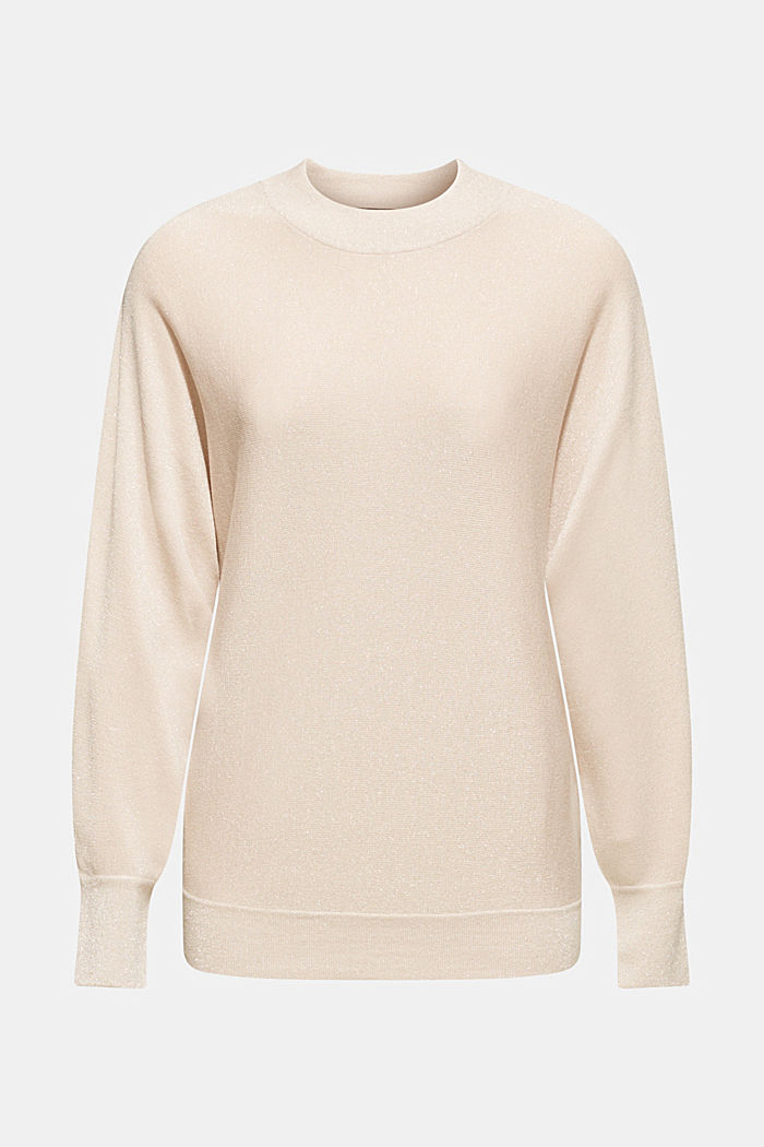 Sparkly jumper with LENZING™ ECOVERO, DUSTY NUDE, detail image number 7