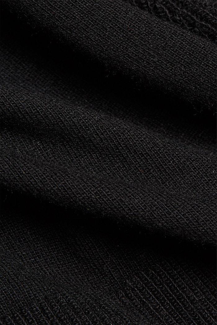 Mit Kaschmir: Cardigan mit Strukturdetails, BLACK, detail image number 4