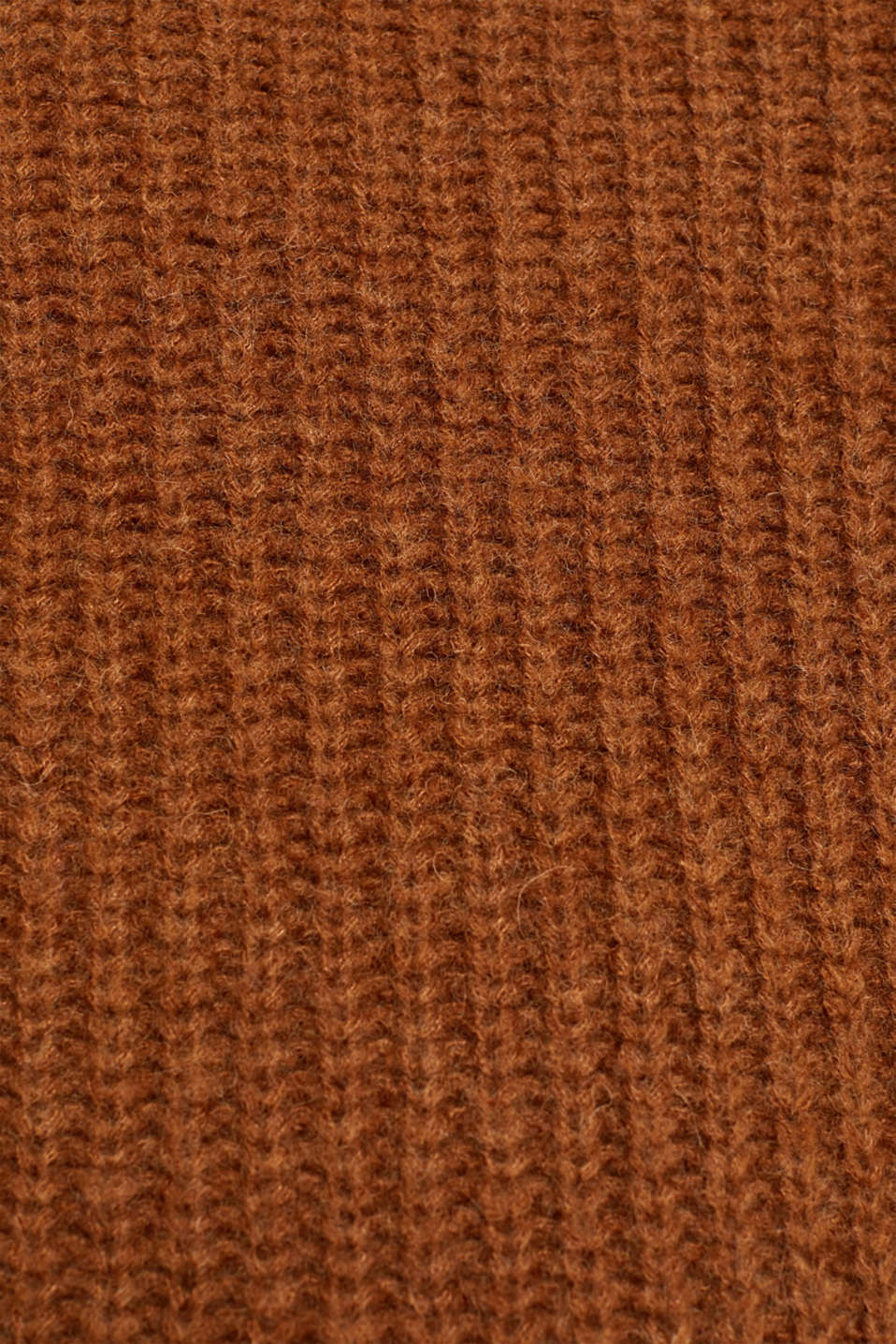 With wool: Ribbed jumper with balloon sleeves, TOFFEE, detail image number 4