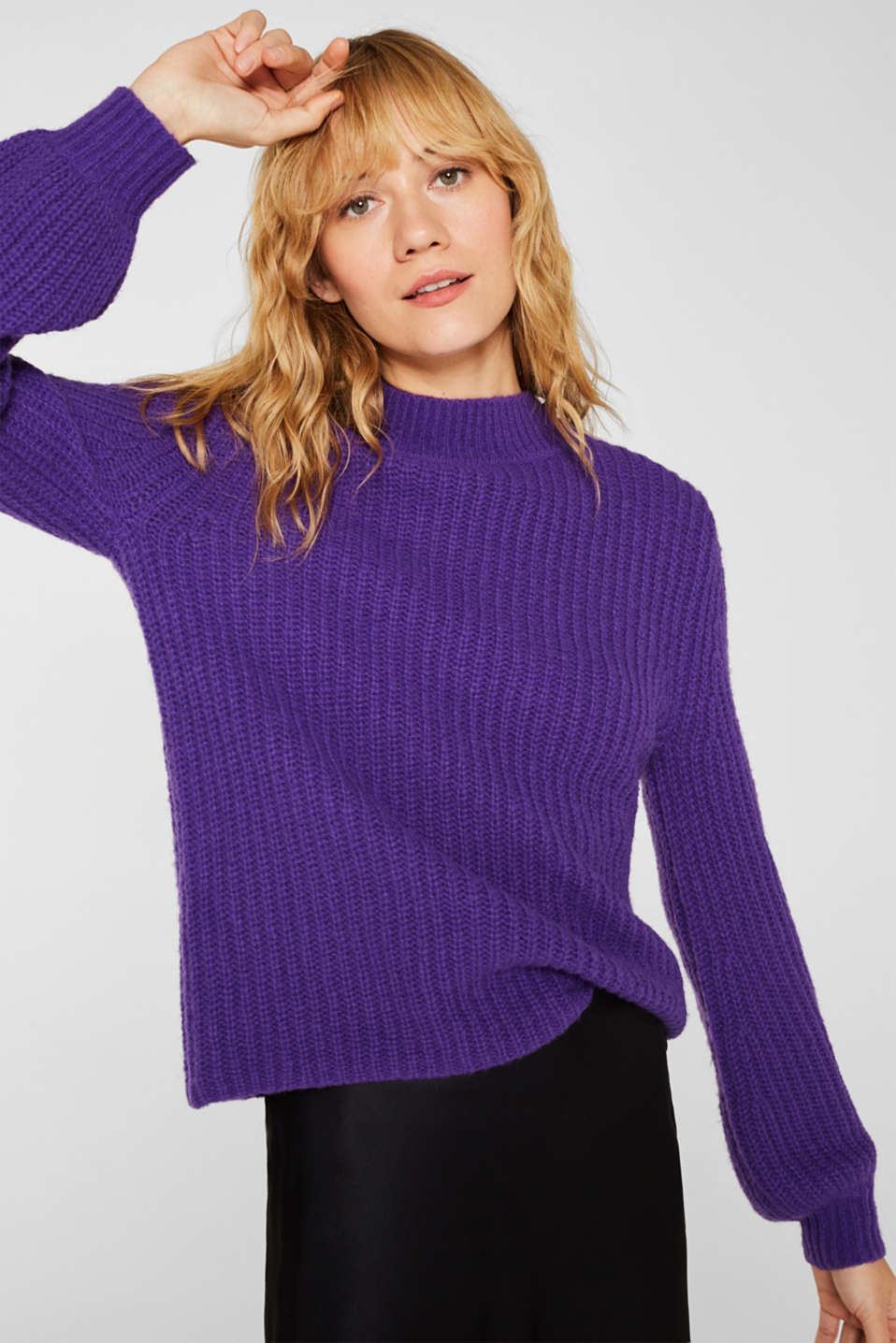 Sweaters, PURPLE, detail image number 0