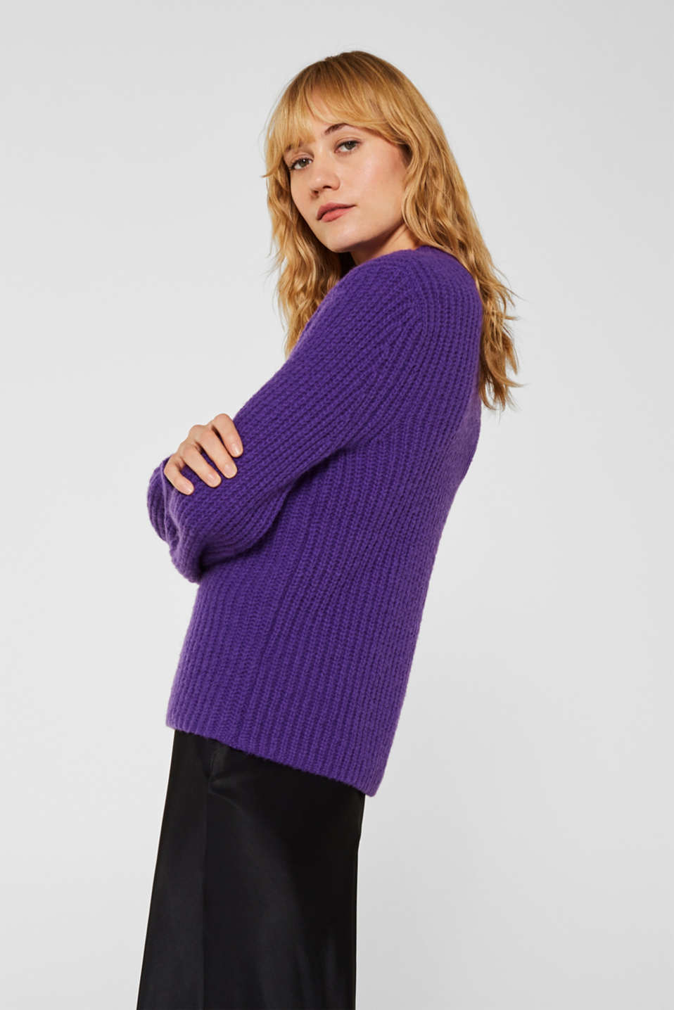 Sweaters, PURPLE, detail image number 5