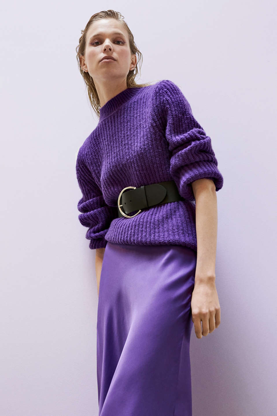 Sweaters, PURPLE, detail image number 6