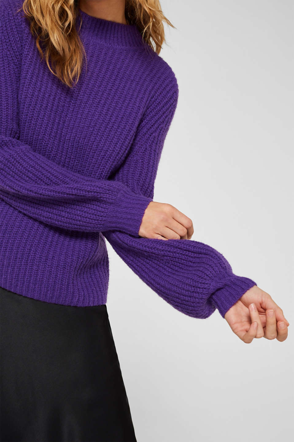 Sweaters, PURPLE, detail image number 2