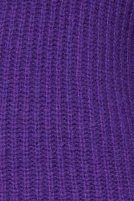With wool: Ribbed jumper with balloon sleeves