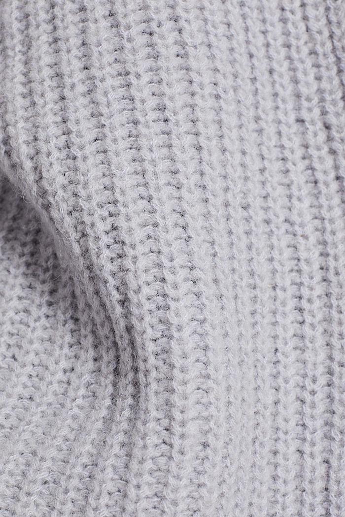 Mit Wolle: Cardigan mit Ballon-Ärmeln, PASTEL BLUE, detail image number 4