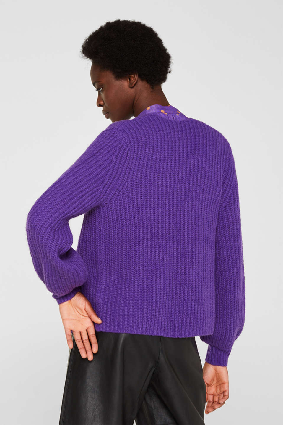 Sweaters cardigan, PURPLE, detail image number 3