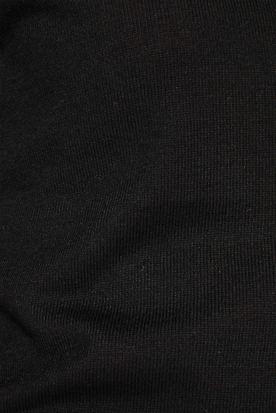 Sweaters, BLACK, detail image number 4