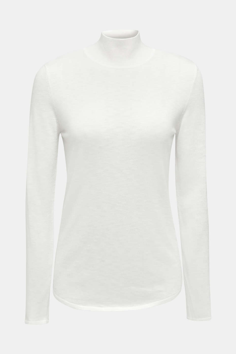 Turtleneck jumper with a touch of cashmere, OFF WHITE, detail image number 9