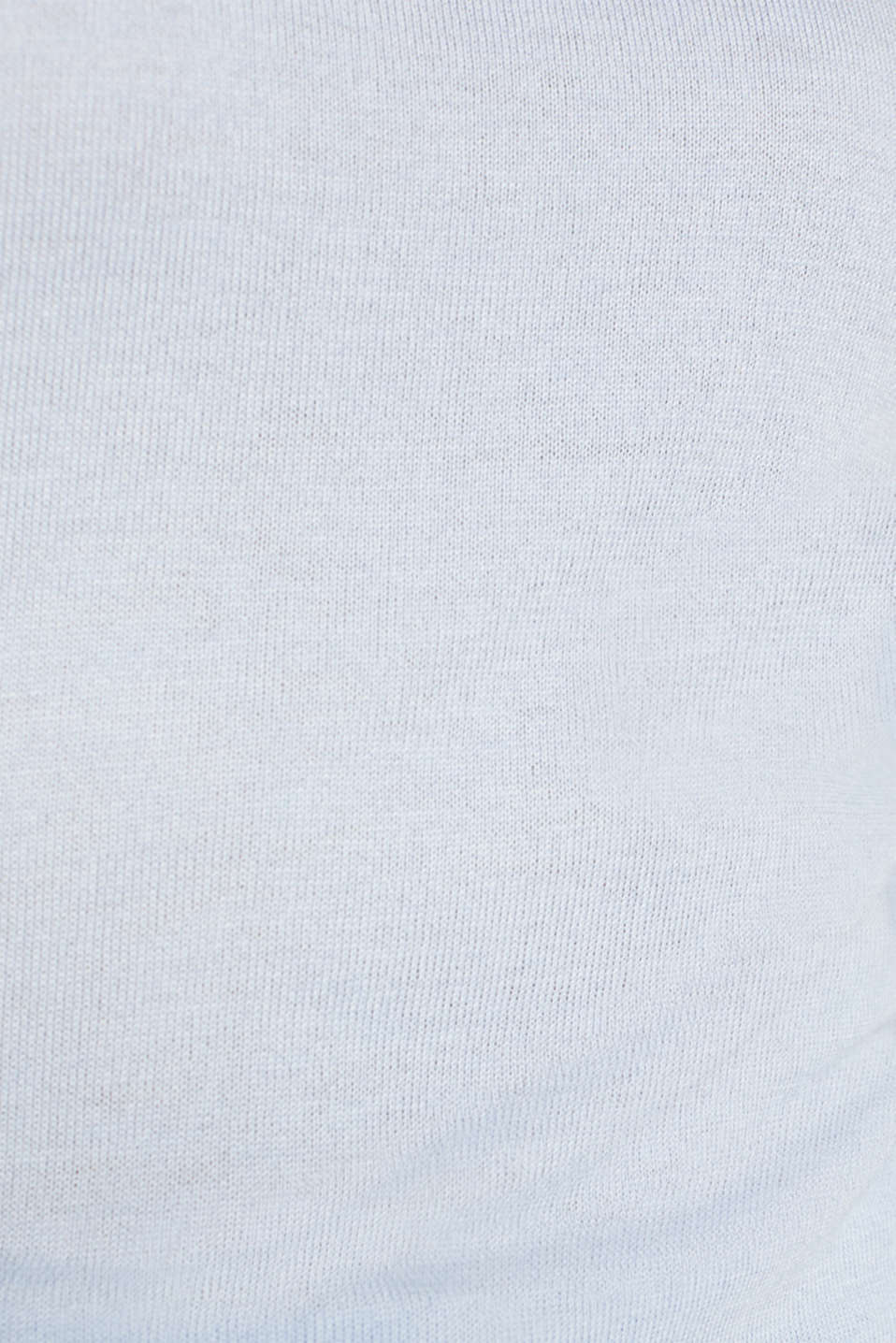 Turtleneck jumper with a touch of cashmere, PASTEL BLUE, detail image number 4