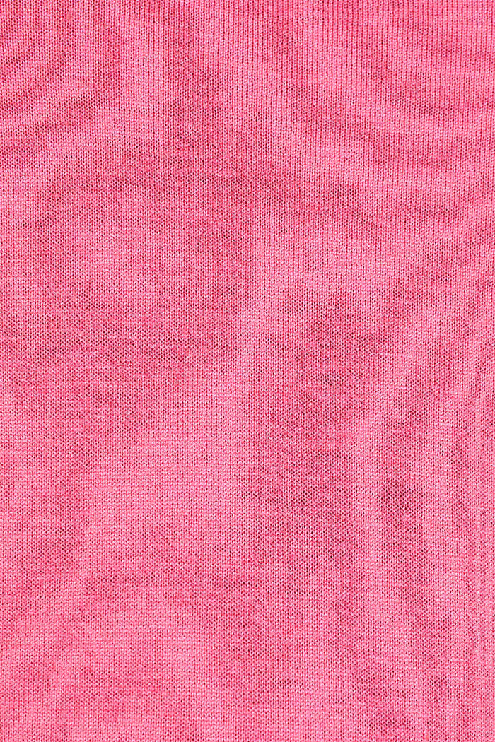 Turtleneck jumper with a touch of cashmere, PINK, detail image number 4