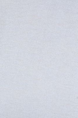 Soft polo jumper with a touch of cashmere, PASTEL BLUE, detail