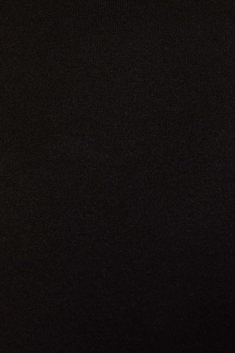 Sweaters, BLACK, detail image number 4