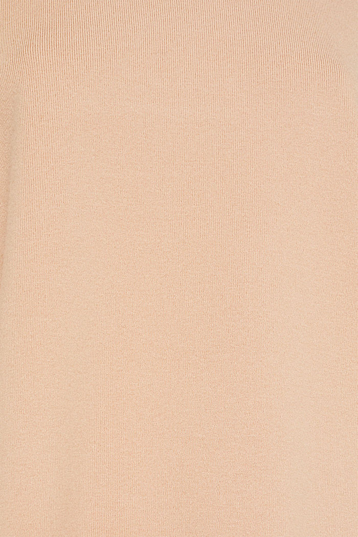 Band collar jumper with a boxy shape, LIGHT BEIGE, detail image number 4