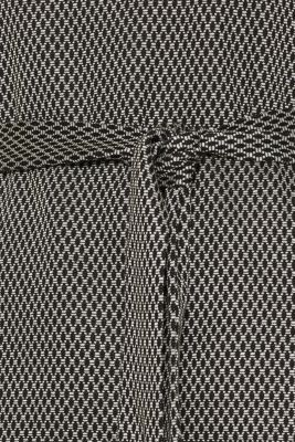 Patterned stretch T-shirt with a tie-around belt
