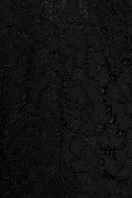 Wide leg jumpsuit with lace top, BLACK, detail