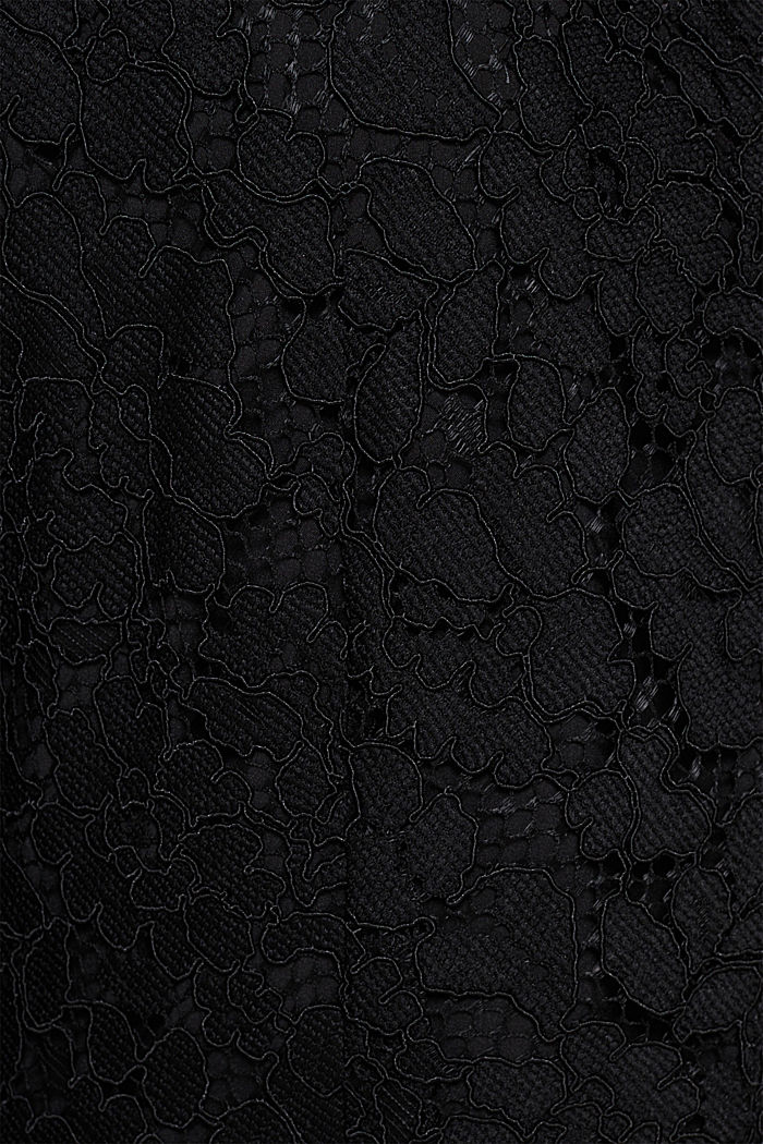Wide leg jumpsuit with lace top, BLACK, detail image number 4