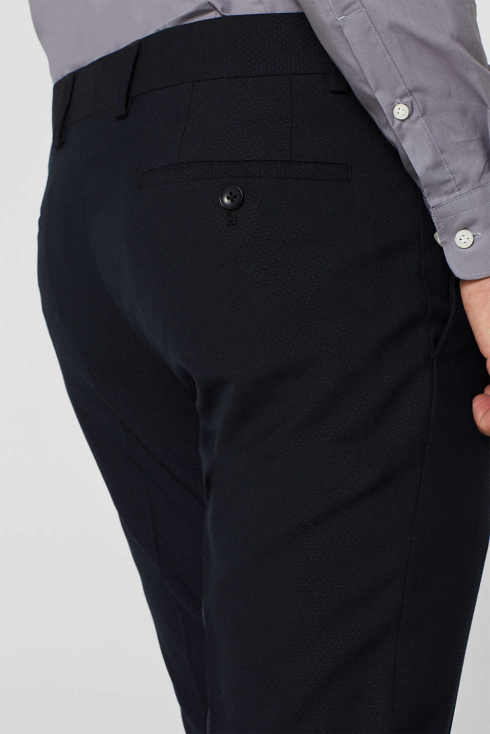 PARTY mix + match: Textured suit trousers, BLACK, detail image number 3