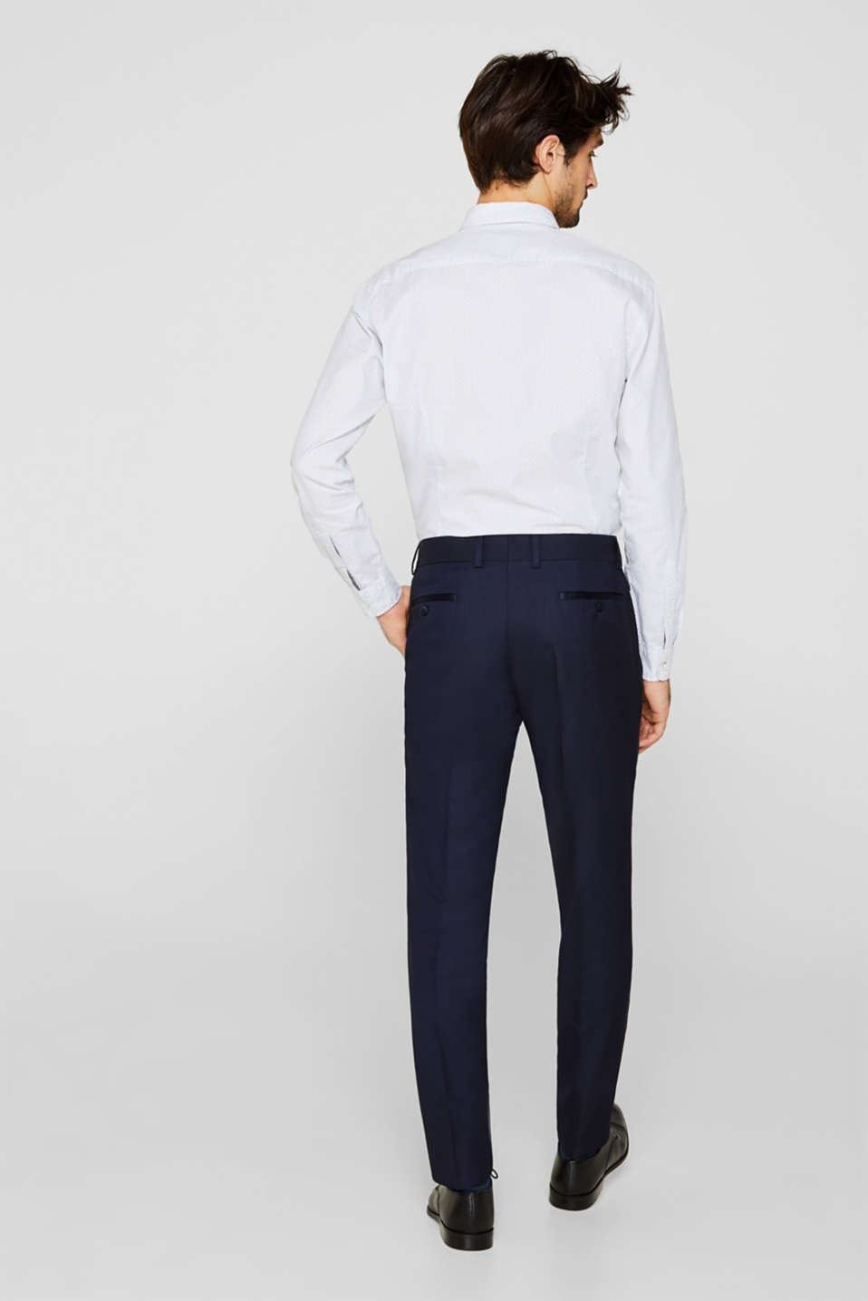 BLUE DINNER JACKET Mix + Match: Trousers with side stripes, NAVY, detail image number 1