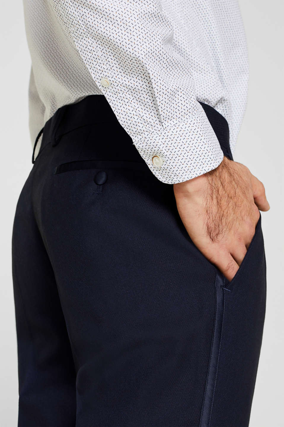 BLUE DINNER JACKET Mix + Match: Trousers with side stripes, NAVY, detail image number 5