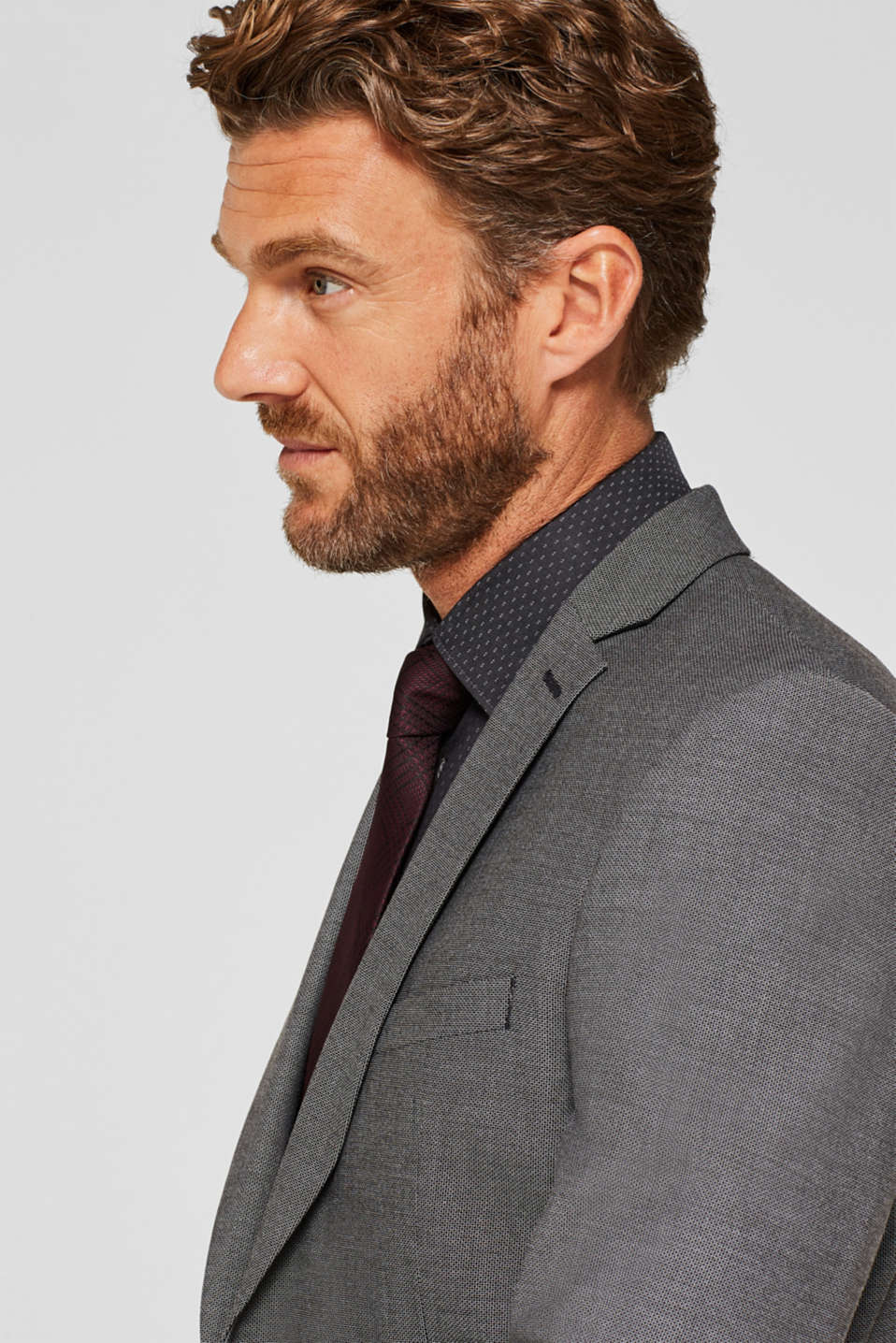 Easy-iron shirt in 100% cotton, ANTHRACITE, detail image number 6