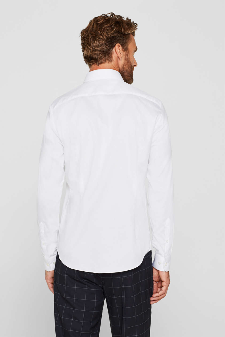 Easy-iron shirt in 100% cotton, WHITE, detail image number 2