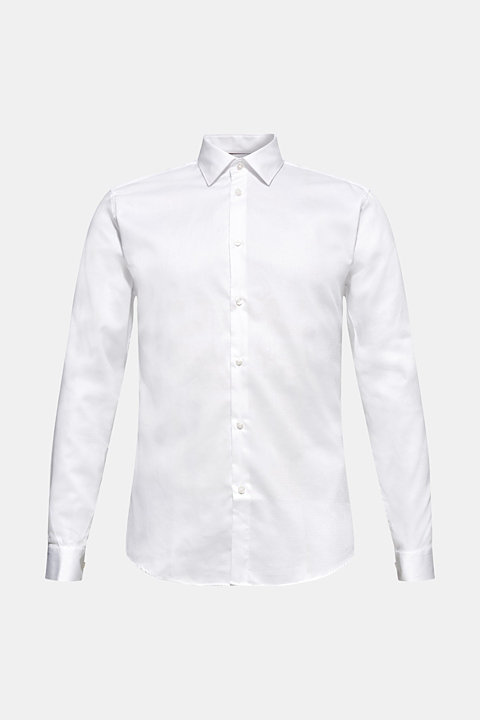 Easy-iron shirt in 100% cotton