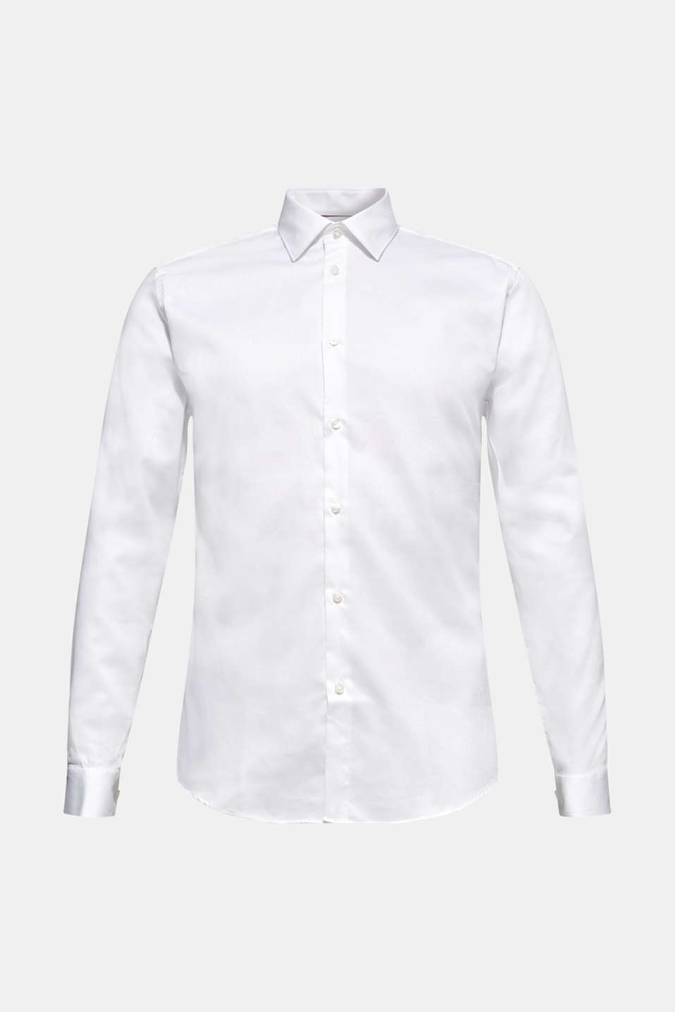 Easy-iron shirt in 100% cotton, WHITE, detail image number 7
