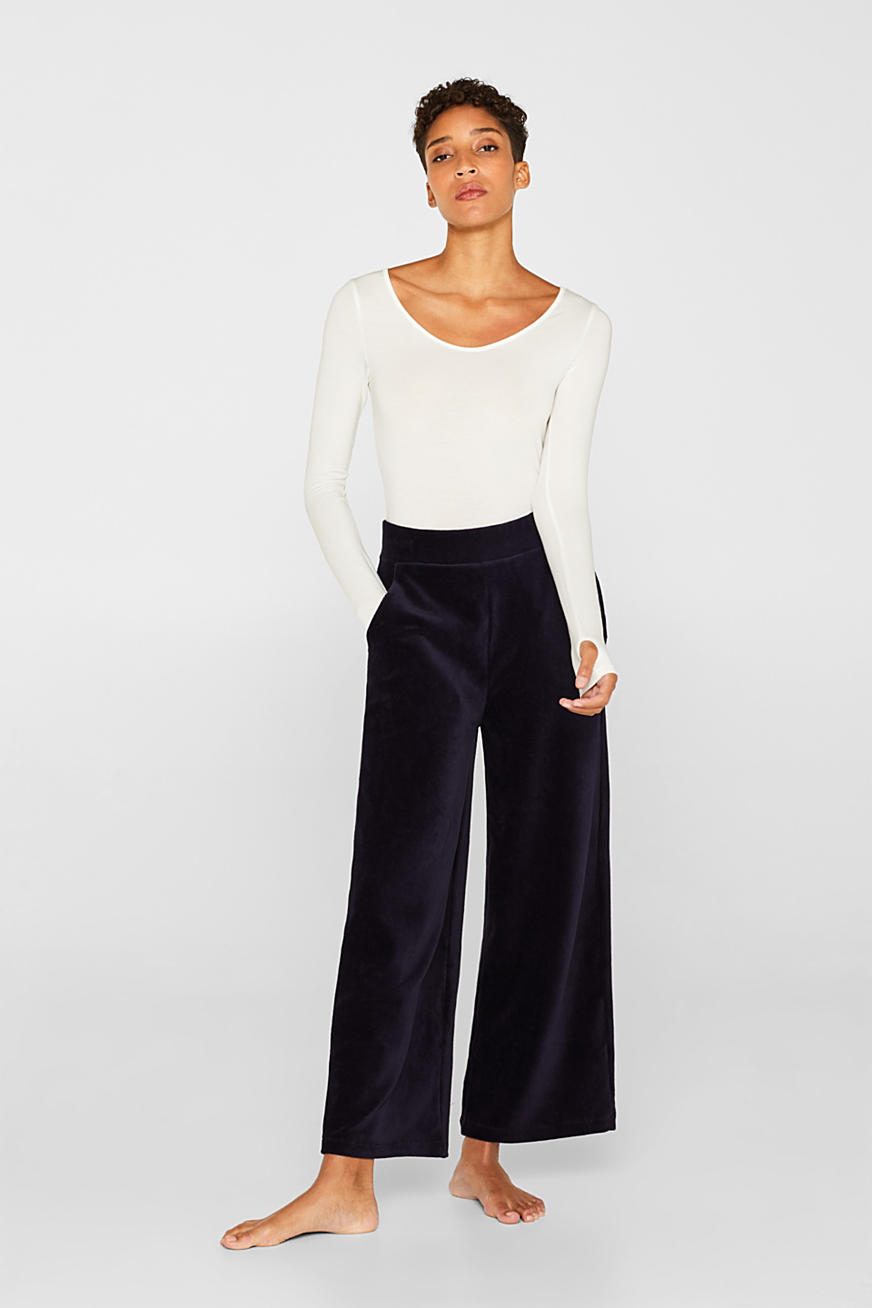 Jersey-Stretch-Pants in Cord-Optik