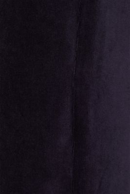 Cord-style stretch jersey trousers, NAVY, detail