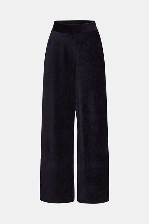 Cord-style stretch jersey trousers
