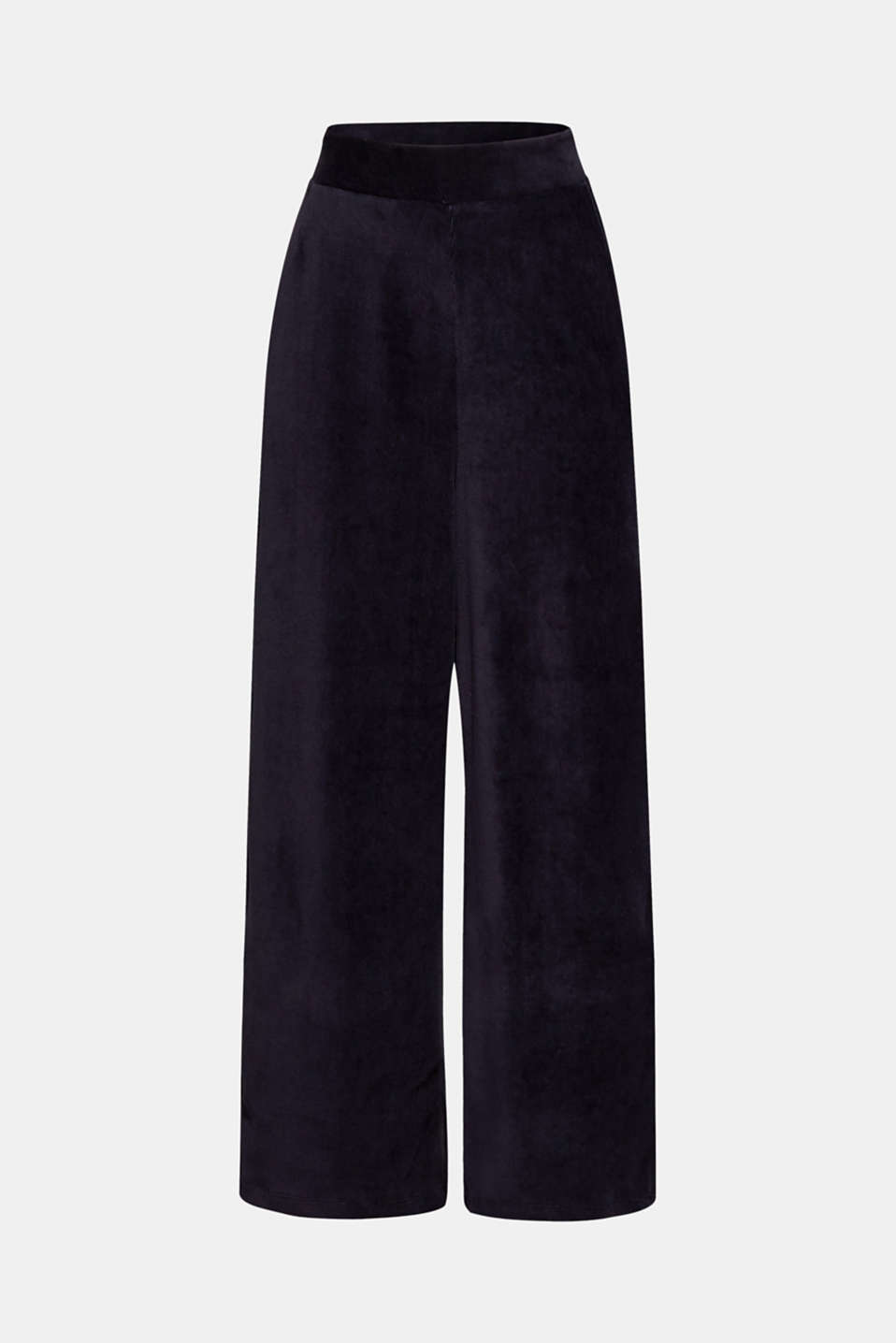 Cord-style stretch jersey trousers, NAVY, detail image number 7